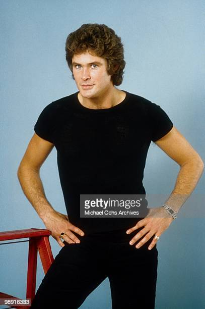 Actor and singer David Hasselhoff poses for a portrait on January 11 1980 in Los Angeles California