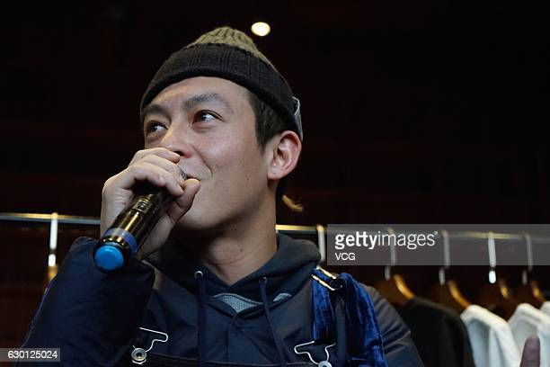 Actor and singer Edison Chen holds photography exhibition at UCCA store of 798 Art District on December 16 2016 in Beijing China