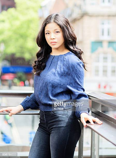 Actor and singer Eva Noblezada is photographed for the Times on May 10 2014 in London England