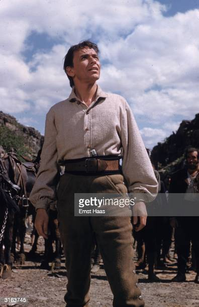 Actor and singer Frank Sinatra plays a Spanish guerrilla in the United Artists production of 'The Pride and The Passion' directed by Stanley Kramer...
