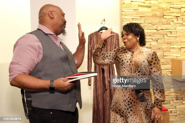 Actor and singer James Monroe Iglehart and author and journalist April Ryan read from her book at Lafayette 148 New York x April Ryan Under Fire Book...