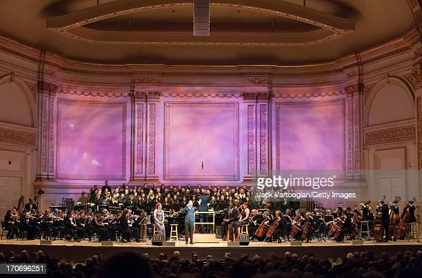 Actor and singer Jeremy Jordan performs with the New York Pops orchestra and the Essential Voices USA chorus at 'The Wizard and I The Musical Journey...