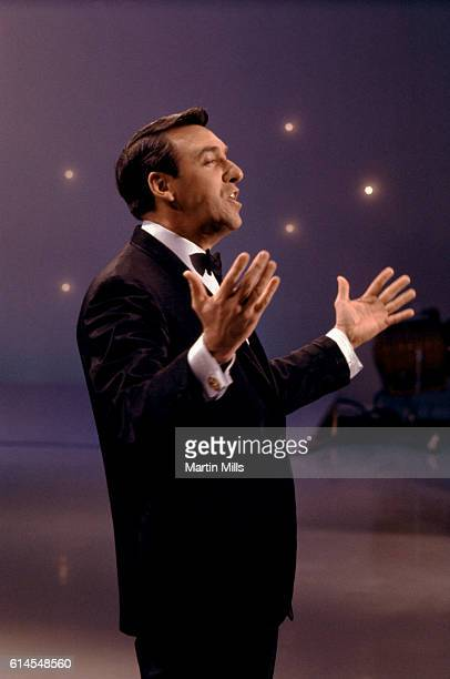 Actor and singer Jim Nabors performs during an act circa 1970 Nabors is also known for singing 'Back Home Again in Indiana' prior to the start of the...
