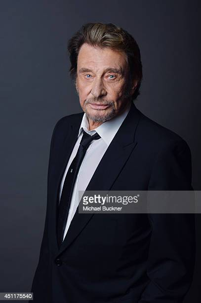 Actor and singer Johnny Hallyday is photographed at the City of Lights, City of Angeles French film festival portrait studio on April 21, 2014 in Los...