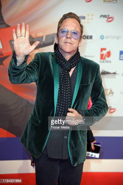 US actor and singer Kiefer Sutherland attends the PRG LEA Live Entertainment Award 2019 at Festhalle on April 1 2019 in Frankfurt am Main Germany