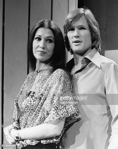 Actor and singer Kris Kristofferson with his wife singer Rita Coolidge at the BBC Theatre in Shepherds Bush