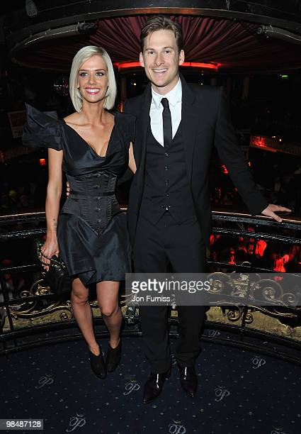 Actor and singer Lee Ryan and Sammi Miller attend 'The Heavy' film premiere after party at the Cafe de Paris on April 15 2010 in London England