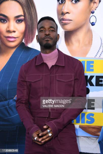 """Actor and singer Luke James arrives for the premiere of Universal Pictures' """"Little"""" at the Regency Village Theatre in Los Angeles on April 8, 2019."""