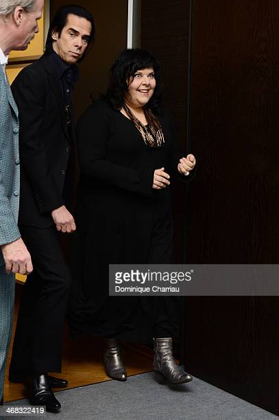 Actor and singer Nick Cave and director Jane Pollard arrive for the '20.000 Days on Earth' photocall during 64th Berlinale International Film...