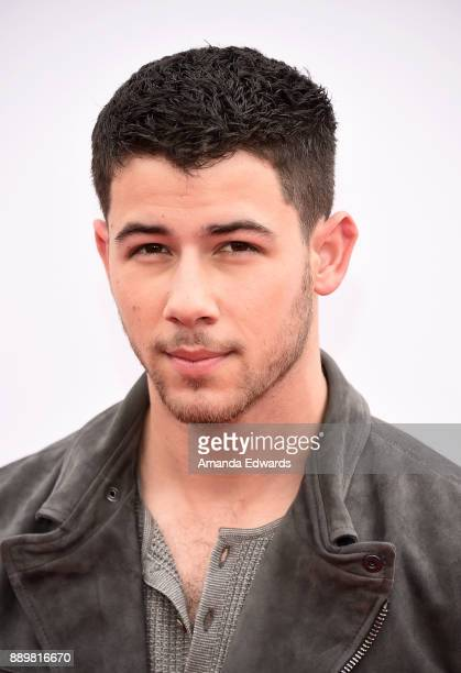 Actor and singer Nick Jonas arrives at a screening of 20th Century Fox's 'Ferdinand' at the Zanuck Theater at 20th Century Fox Lot on December 10...