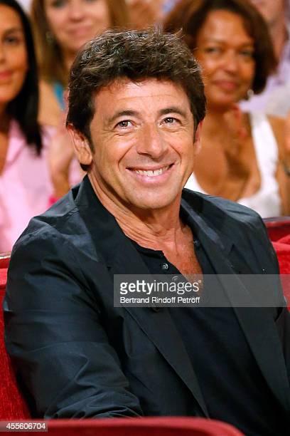 Actor and singer Patrick Bruel presents the movie 'Tu veux ou tu veux pas' during the 'Vivement Dimanche' French TV Show at Pavillon Gabriel on...