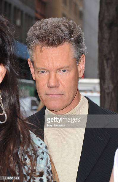 Actor and singer Randy Travis leaves the Today Show taping at the NBC Rockefeller Centers Square Studios on March 21 2012 in New York City