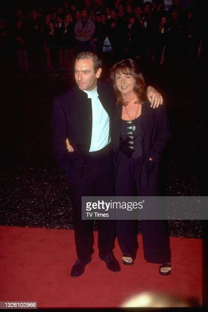 Actor and singer Robson Green with his wife Alison at the National Television Awards at the Royal Albert Hall in London on October 8, 1997.