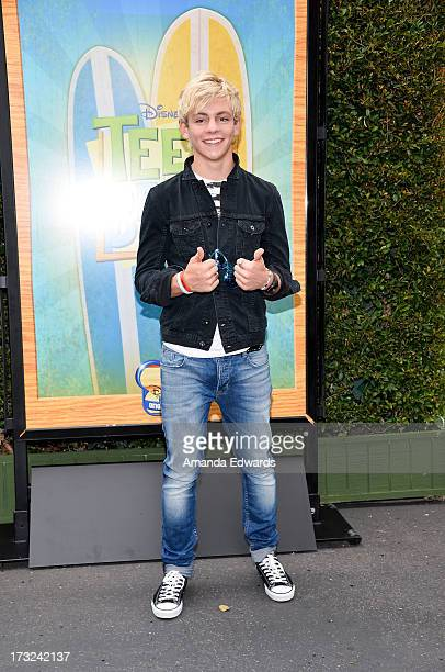 Actor and singer Ross Lynch arrives at a special screening of Disney Channel's 'Teen Beach Movie' at Walt Disney Studios on July 10 2013 in Burbank...