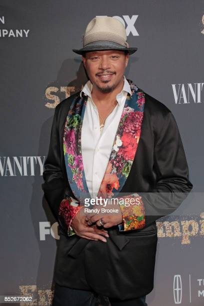 Actor and singer Terrence Howard poses on the red carpet during the 'Empire' 'Star' Celebrate FOX's New Wednesday Night at One World Observatory on...