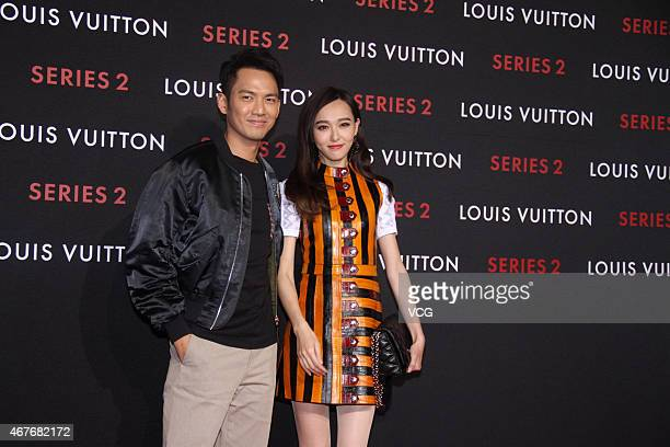 Actor and singer Wallace Chung and actress Tiffany Tang attend the opening event of LV 'Series 2' at China World Shopping Mall on March 26 2015 in...