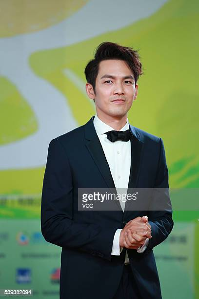 Actor and singer Wallace Chung from Hong Kong attends the closing ceremony red carpet of 22nd Shanghai TV Festival on June 10 2016 in Shanghai China