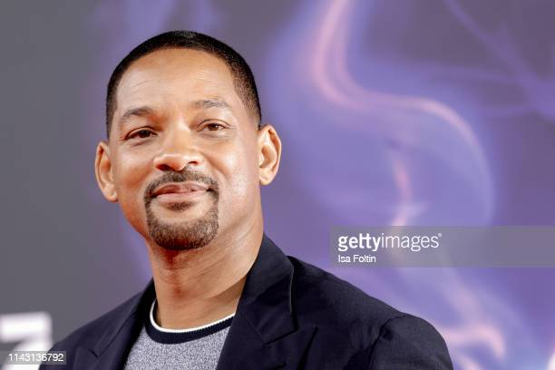 US actor and singer Will Smith attends the movie premiere of Aladdin at UCI Luxe Mercedes Platz on May 11 2019 in Berlin Germany