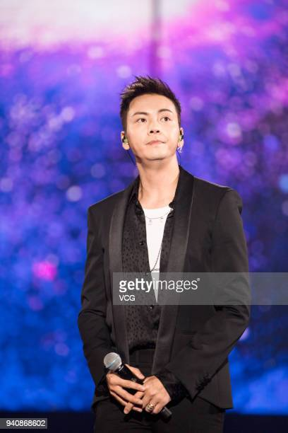 Actor and singer William Chan attends a launch ceremony of OPPO R15 on March 31 2018 in Shenzhen Guangdong Province of China