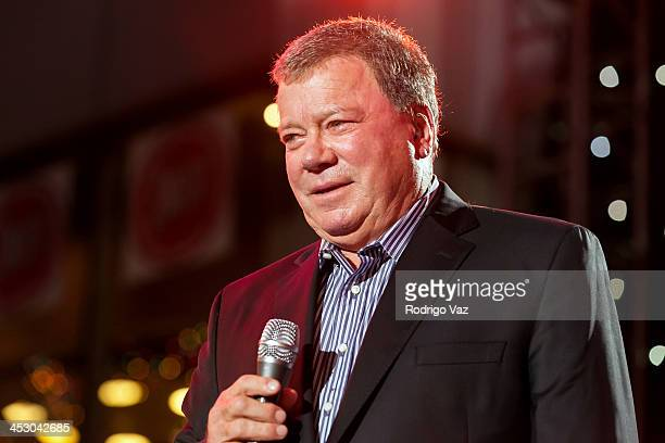 Actor and singer William Shatner performs at The Hollywood Christmas Parade benefitting Toys For Tots Foundation Show on December 1 2013 in Hollywood...
