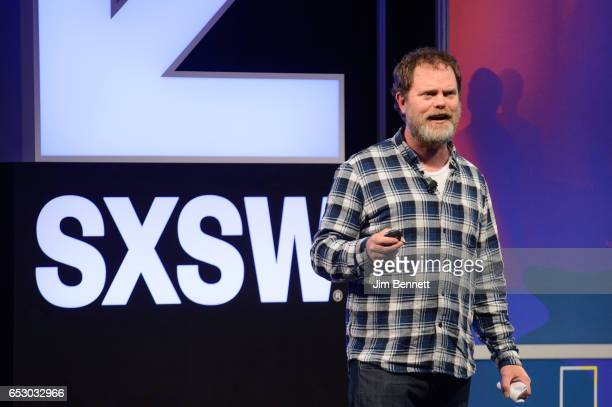 Actor and SoulPancake founder Rainn Wilson speaks during the SxSW Conference at the Austin Convention Center on March 11 2017 in Austin Texas
