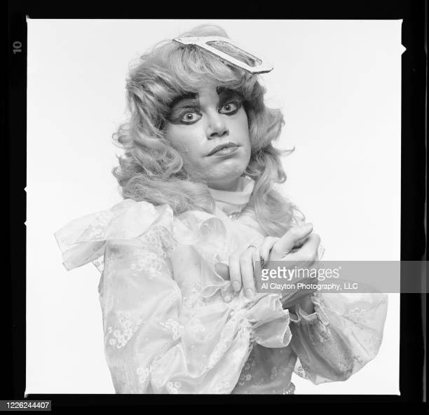actor and television personality DeAundra Peek born Rosser Shymanski with hands together Shot shoulder up on location at Edgewood Studio in Atlanta...