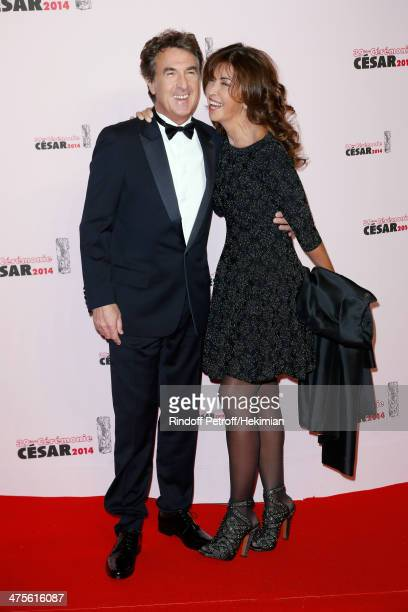 Actor and tonight's host Francois Cluzet and his wife Narjiss A Cluzet arrive for the 39th Cesar Film Awards 2014 at Theatre du Chatelet on February...