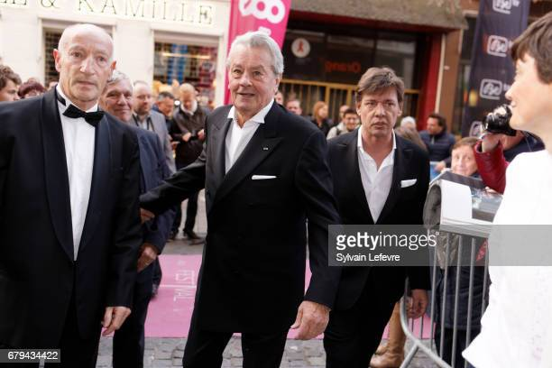 Actor and tribute recipient Alain Delon arrives at Tribute to Alain Delon on 2nd day of Festival International du Film Policier aka Liege Thriller...