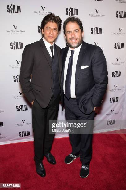Actor and tribute recipient Shah Rukh Khan and presenter Brett Ratner arrive at Tribute to Shah Rukh Khan at 60th San Francisco Intenational Film...