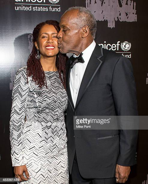 Actor and UNICEF Goodwill Ambassador Danny Glover and his wife Eliane Cavalleiro attend the 9th annual UNICEF Snowflake Ball at Cipriani Wall Street...