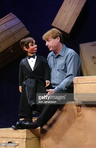 Actor and ventriloquist Jay Johnson with the puppet Squeaky at the Brentwood Theatre in Westwood
