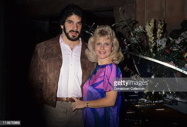 Actor and weightlifter Lou Ferrigno and his wife Carla pose for a portrait in circa 1985 in Los Angeles California