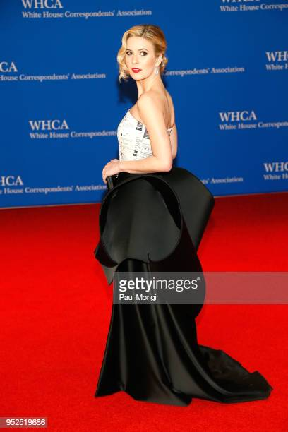 Actor and White House press assistant Caroline Sunshine attends the 2018 White House Correspondents' Dinner at Washington Hilton on April 28 2018 in...