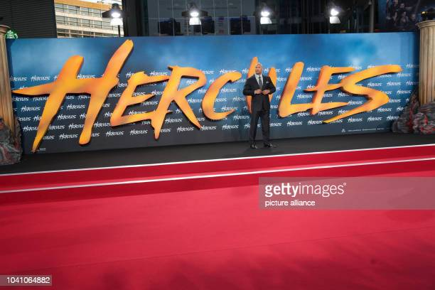"""Actor and wrestler Dwayne Johnson arrives to the European Premiere of the movie """"Hercules"""" at Cinestar in Berlin, Germany, 21 August 2014. The movie..."""
