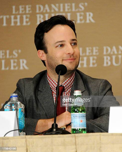 Actor and writer Danny Strong attends the press conference for The Weinstein Company's LEE DANIELS' THE BUTLER at Waldorf Astoria Hotel on August 5...