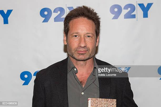 Actor and Writer David Duchovny attends 92Y Talks at Kaufman Concert Hall on April 19, 2016 in New York City.