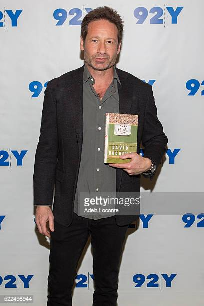 Actor and Writer David Duchovny attends 92Y Talks at Kaufman Concert Hall on April 19 2016 in New York City