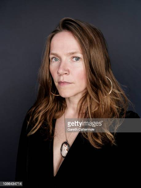 Actor and writer Jessica Hynes is photographed at the BFI London Film Festival on October 18 2018 in London England