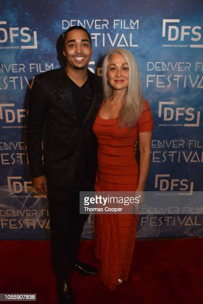 Actor and writer Roderick Smith with SAG/AFTRA Colorado Local President and National Board Member Sheila Traister on the red carpet for the 41st...
