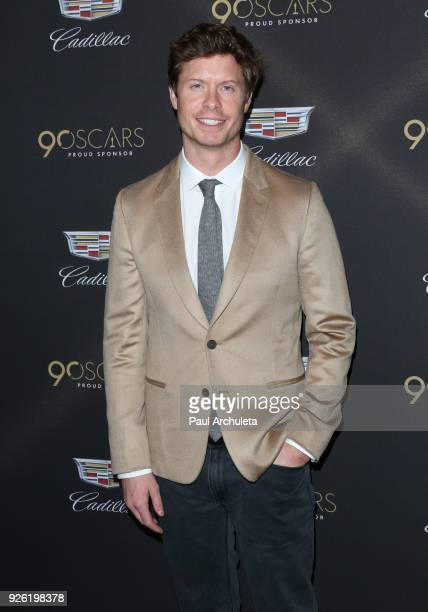 Actor Anders Holm attends the Cadillac celebration for the 90th Annual Academy Awards at Chateau Marmont on March 1 2018 in Los Angeles California