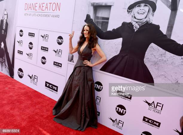 Actor Andie MacDowell arrives at American Film Institute's 45th Life Achievement Award Gala Tribute to Diane Keaton at Dolby Theatre on June 8 2017...