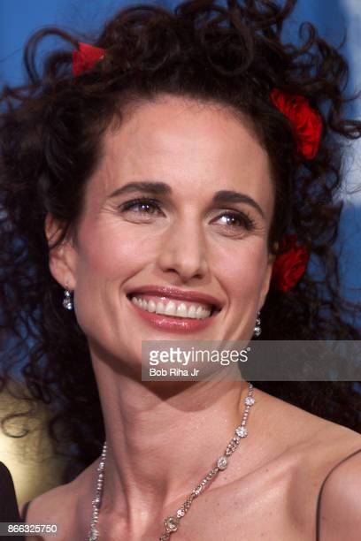 Actor Andie MacDowell at the 71st Annual Academy Awards March 211999 In Los Angeles California