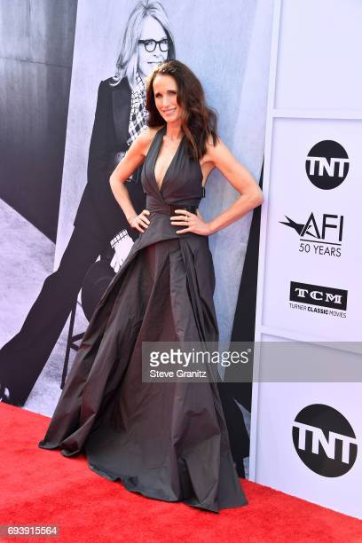 Actor Andie MacDowell attends the AFI Life Achievement Award Gala Tribute to Diane Keaton at Dolby Theatre on June 8 2017 in Hollywood California