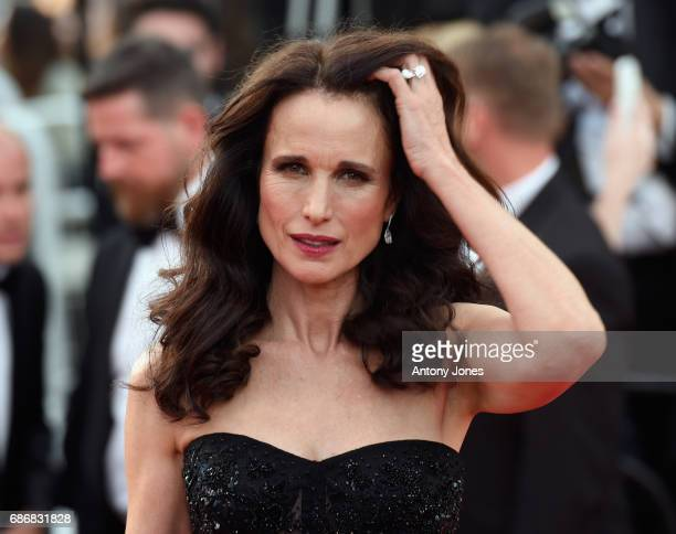 Actor Andie MacDowell attends the 'The Killing Of A Sacred Deer' screening during the 70th annual Cannes Film Festival at Palais des Festivals on May...