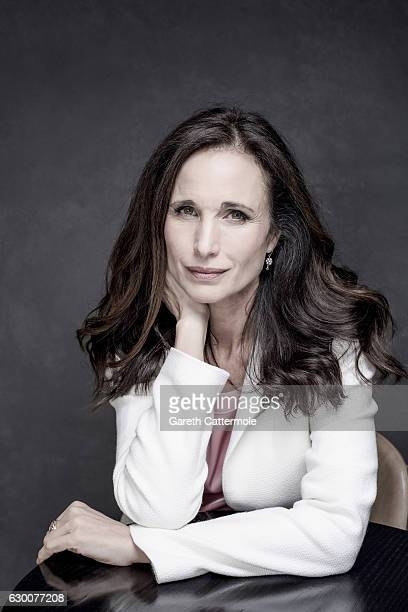 Actor Andie Macdowell is photographed at the 13th annual Dubai International Film Festival held at the Madinat Jumeriah Complex on December 12 2016...