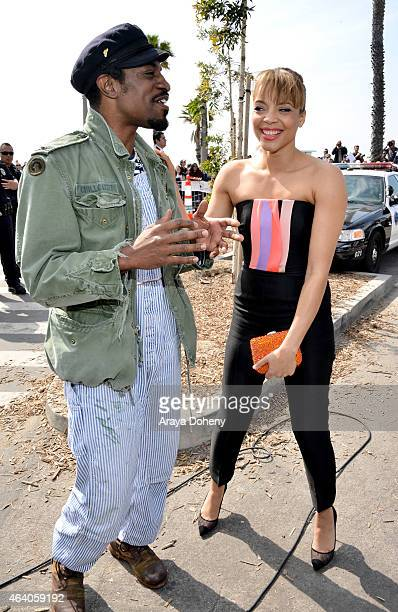 Actor Andre Benjamin and Actress Carmen Ejogo attend the 2015 Film Independent Spirit Awards at Santa Monica Beach on February 21 2015 in Santa...