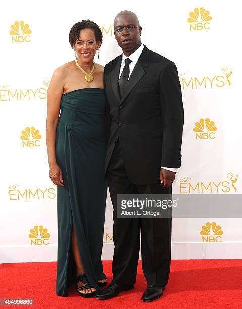 Actor Andre Braugher and wife Ami Brabson arrive for the 66th Annual Primetime Emmy Awards held at Nokia Theatre LA Live on August 25 2014 in Los...