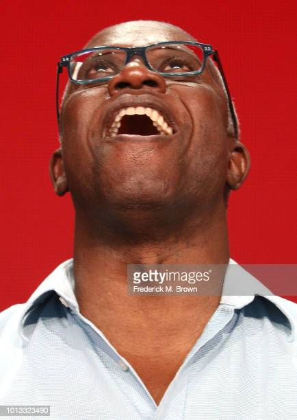 Actor Andre Braugher of the television show 'Brooklyn NineNine' speaks during the NBC segment of the Television Critics Association Press Tour at the...
