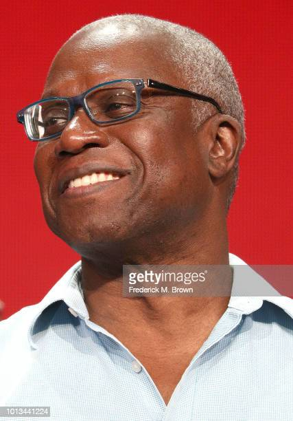 Actor Andre Braugher of the television show 'Brooklyn NineNine' speaks during the NBC segment of the Summer 2018 Television Critics Association Press...