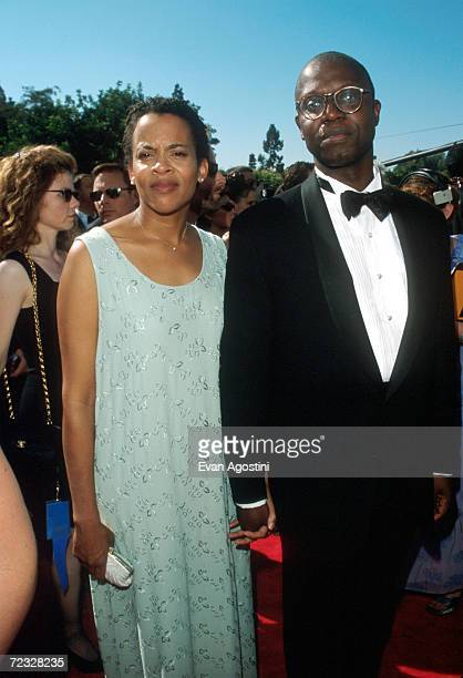 Actor Andre Braugher with his wife Ami Brabson during the Emmy Awards ceremony September 13 1998 in Los Angeles CA